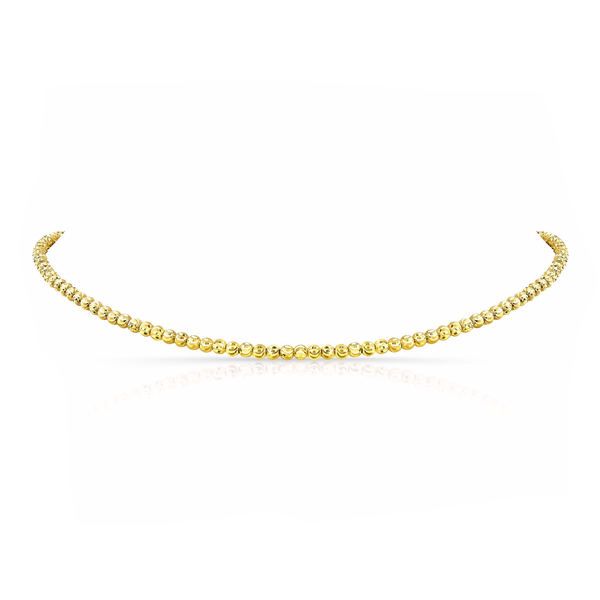 DIAMOND CUT BEAD CHOKER