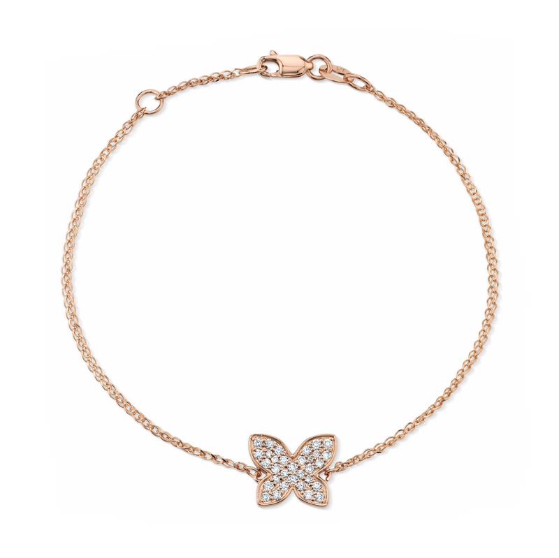 DIAMOND FLOATING BUTTERFLY BRACELET