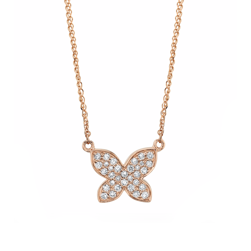 DIAMOND FLOATING BUTTERFLY NECKLACE