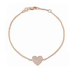 DIAMOND FLOATING HEART BRACELET