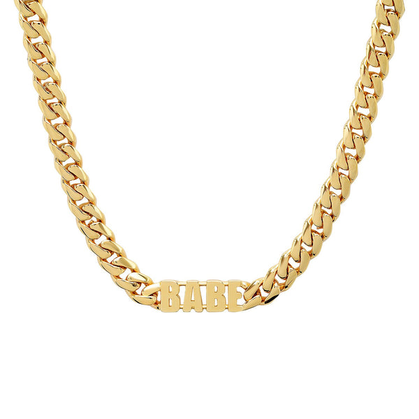 Heavy Chain Catchphrase Necklace