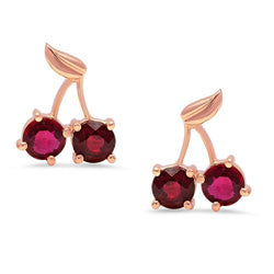 Cherry Ruby Stud Earrings