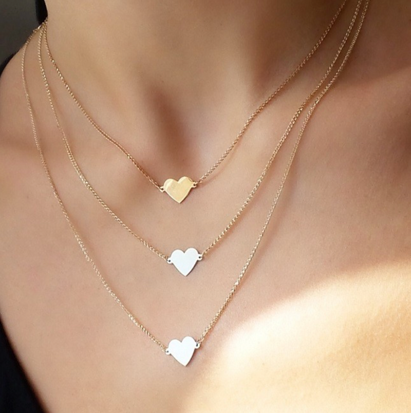 FLOATING HEART NECKLACE