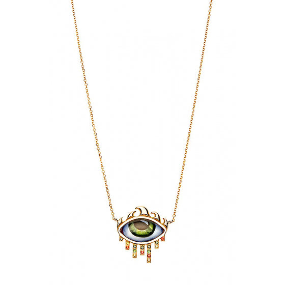 FROM L.A TO N.Y PETIT VERT NECKLACE