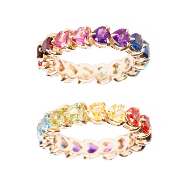 FULL ETERNITY DOUBLE RAINBOW RING