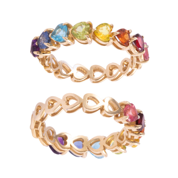 HALF ETERNITY RAINBOW RING