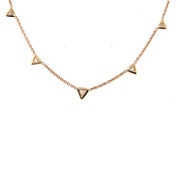 GRADUATED TRILLION DIAMOND NECKLACE