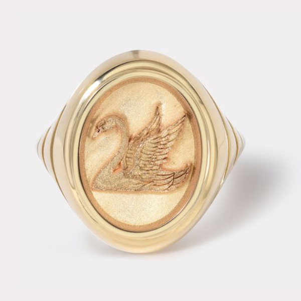 GRANDFATHER FANTASY SIGNET - 14K ROSE GOLD