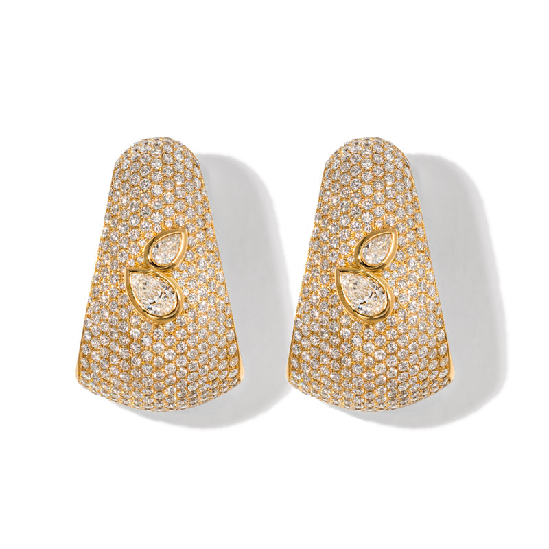 18K YELLOW GOLD BOMBEE EARRING