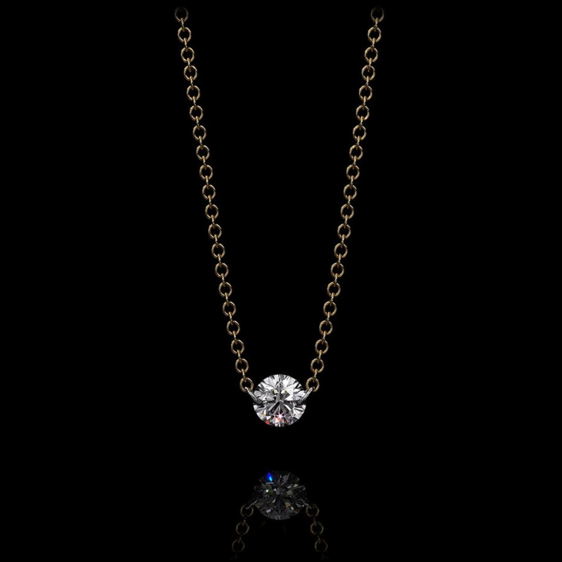 HADID 0.20 CT SOLITAIRE NECKLACE