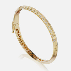 TALISMAN KNIFE EDGE DIAMOND BANGLE