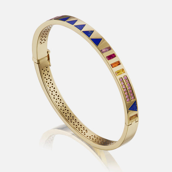 JUJU BANGLE TRIANGLE INLAY - LAPIS