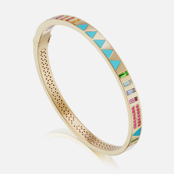 JUJU BANGLE TRIANGLE INLAY - TURQUOISE