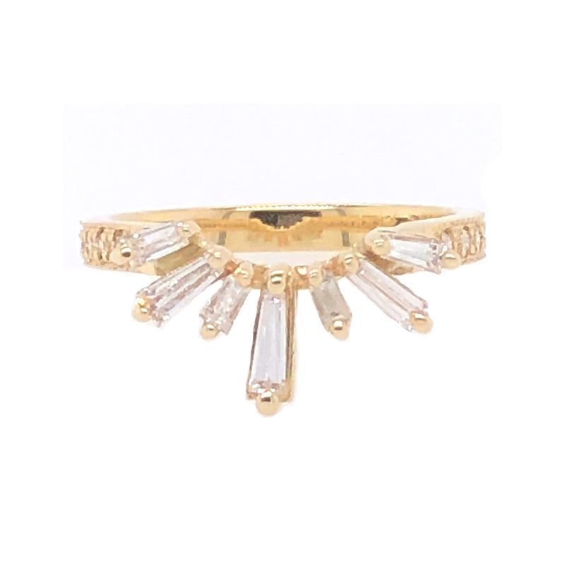 DIAMOND BAGUETTE HALO BAND