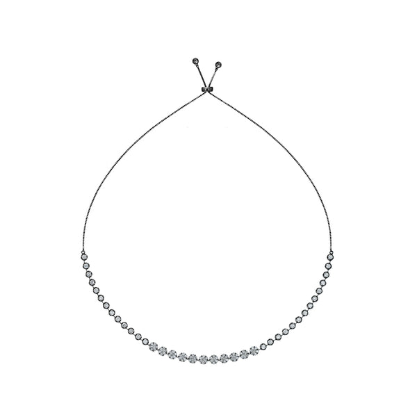 INDIANA DIAMOND GRADUATED CHOKER NECKLACE