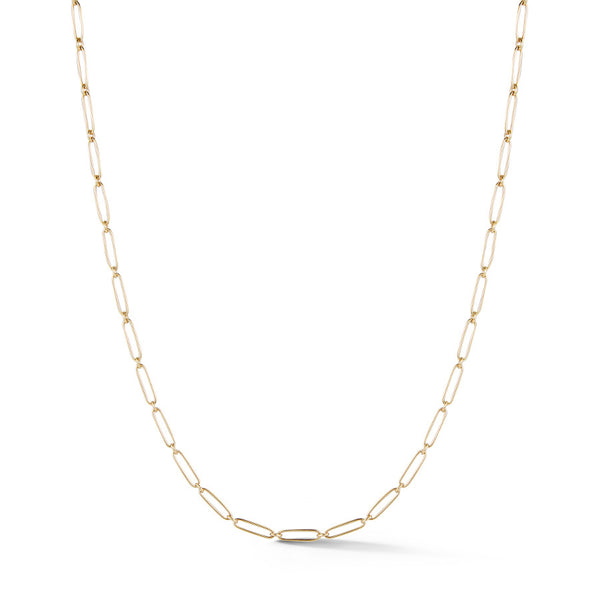 14K Gold Elongated Link Handmade Grover Chain