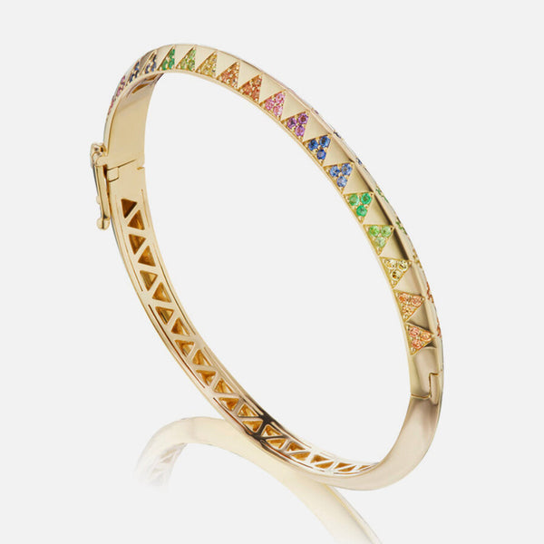 TALISMAN KNIFE EDGE RAINBOW BANGLE