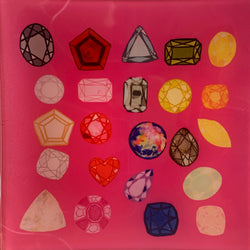 TRAY - COLORED DIAMONDS (PINK)