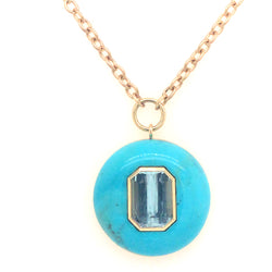LOLLIPOP NECKLACE - AQUAMARINE IN TURQUOISE