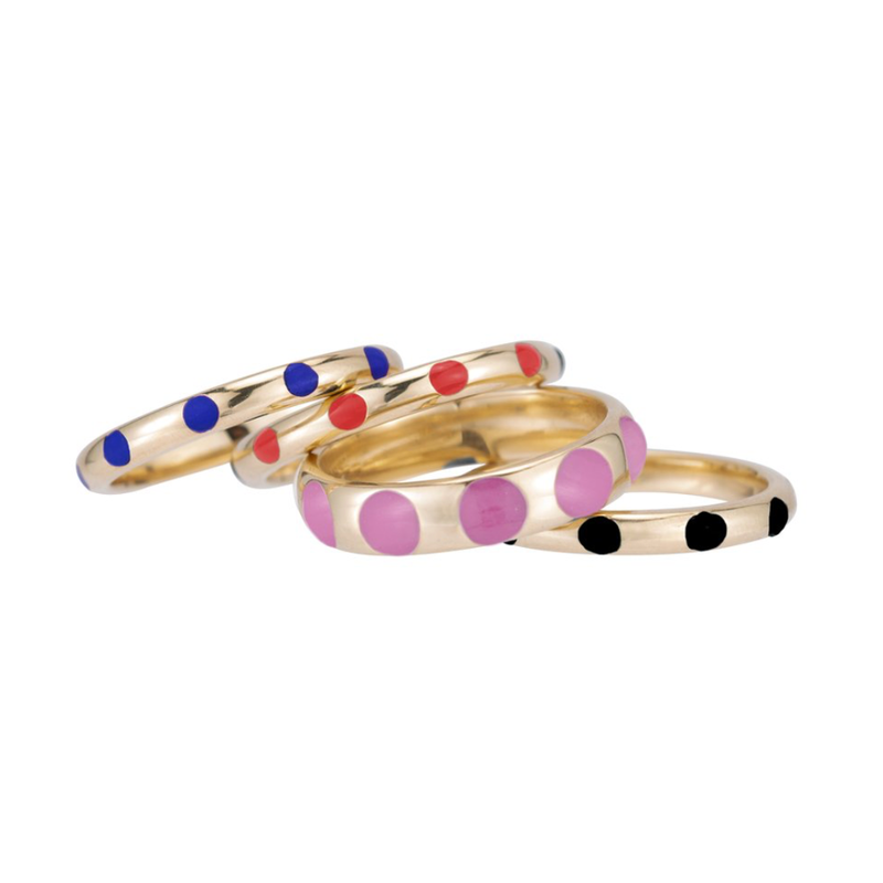 MINI DOTTIES ENAMEL RING
