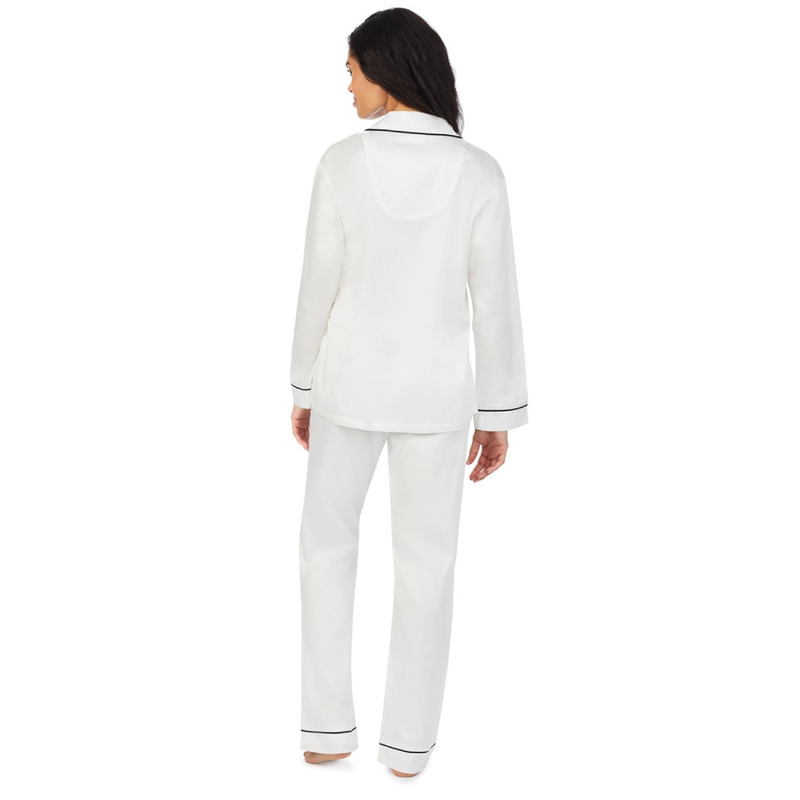 Ivory Long Sleeve Classic PJ Set - MRS Embroidery