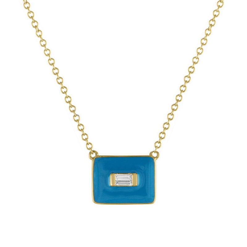 The Diana Enamel and Diamond Necklace