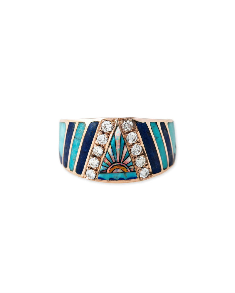Sunset Opal Inlay Ring