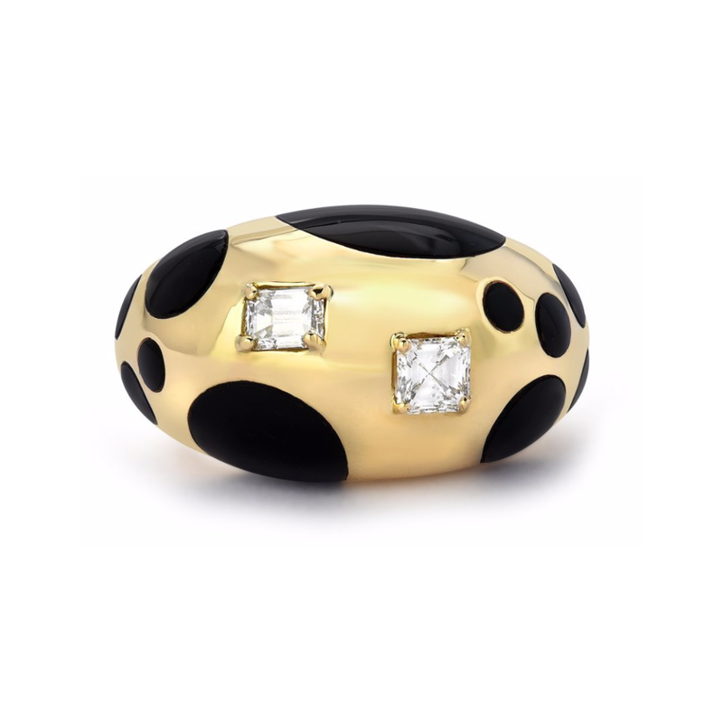 POLKA BOMBE RING - BLACK ONYX