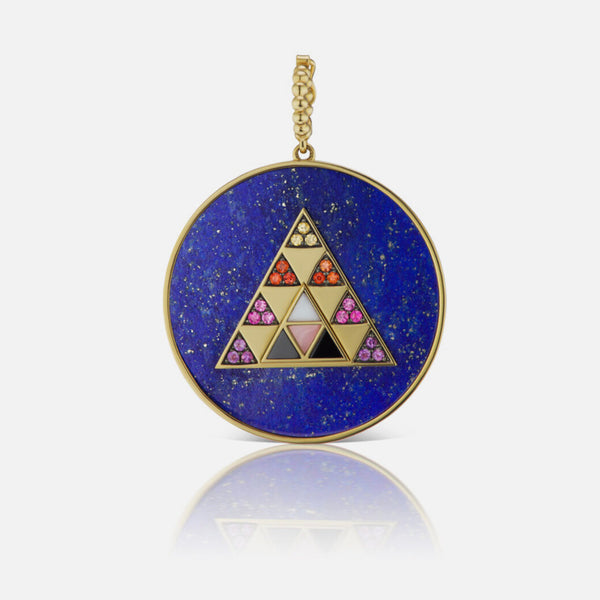 PYRAMID STONE MEDALLION - MOONSTONE