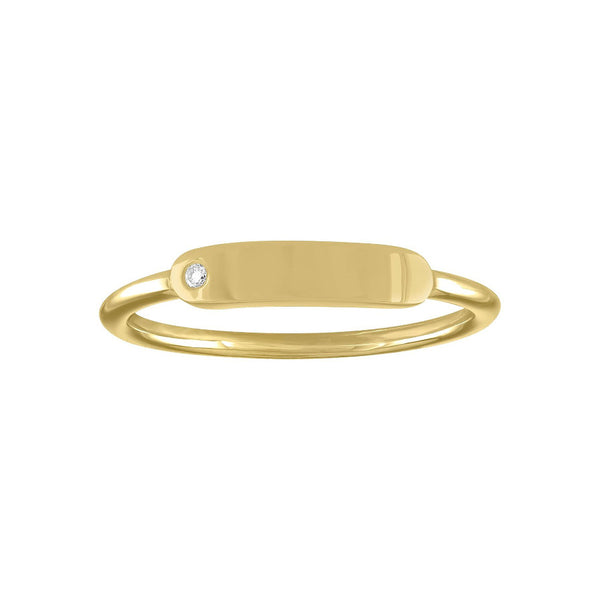 The Twiggy Skinny Signet Ring