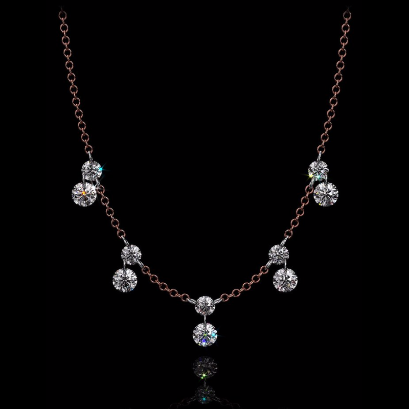 SHELLEY 1 CT 10 STONE ROUND DIAMOND NECKLACE