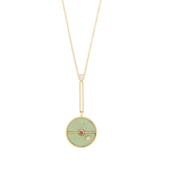 SIGNATURE COMPASS PENDANT - GREEN TURQUOISE