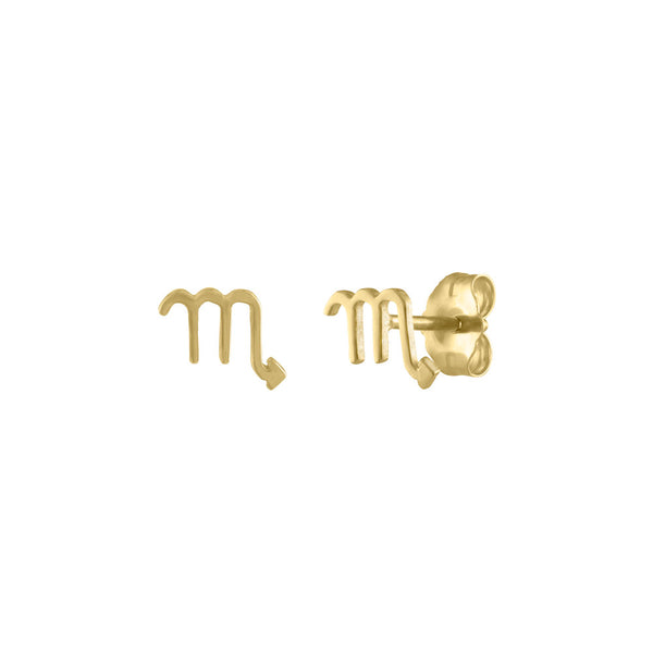 Mini Zodiac Stud Earring