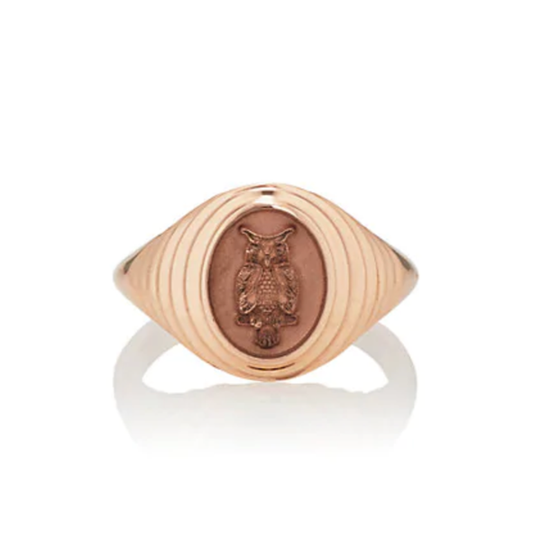 TIERED FANTASY SIGNET - 14K ROSE GOLD