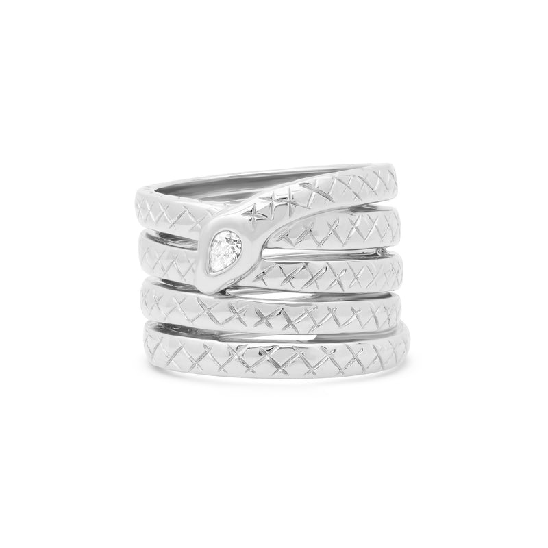 VERONICA FOUR COIL SERPENT RING