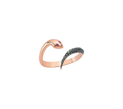 Black Diamond Serpent Ring