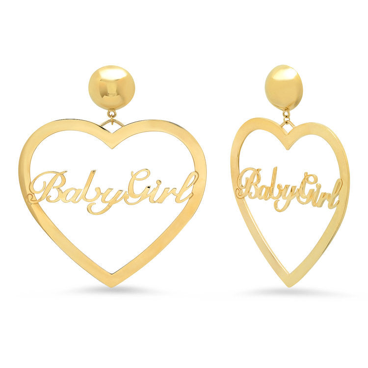 Baby Girl Heart Earrings
