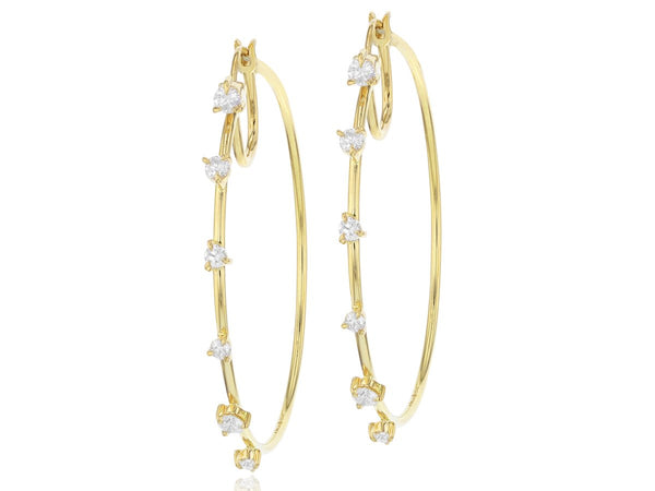 Enchanted Front Closed Hoop Earrings
