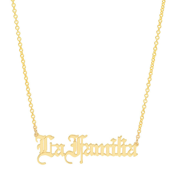 La Familia Old English Necklace