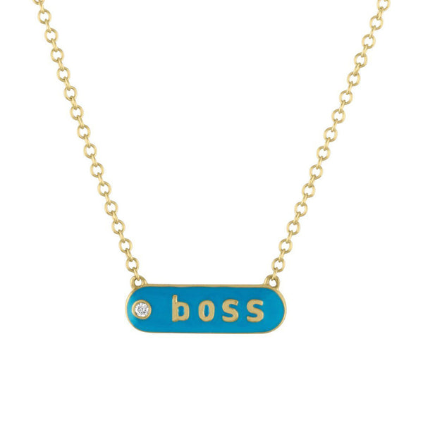 "The Magnolia ""BOSS"" Enamel and Diamond Necklace"