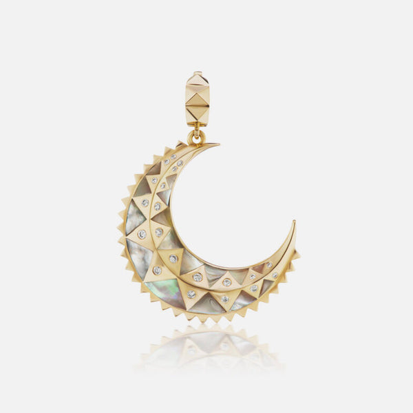 """MINI"" MOON CHARM - MOTHER OF PEARL"