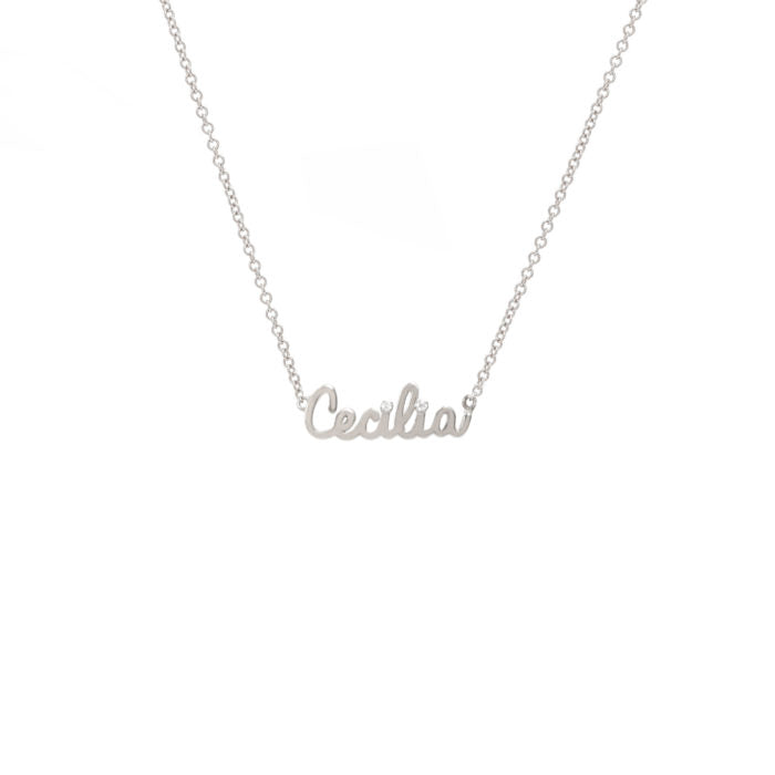 Gold Script Name Necklace