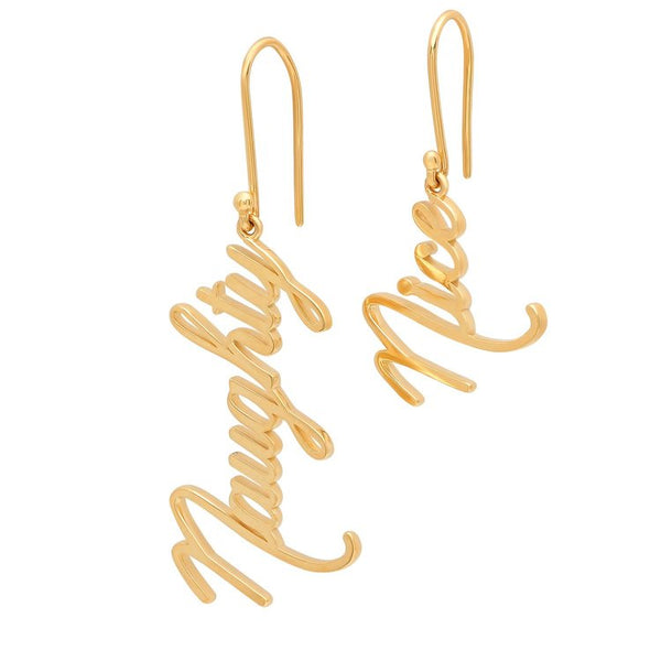 Naughty and Nice Dangle Earrings