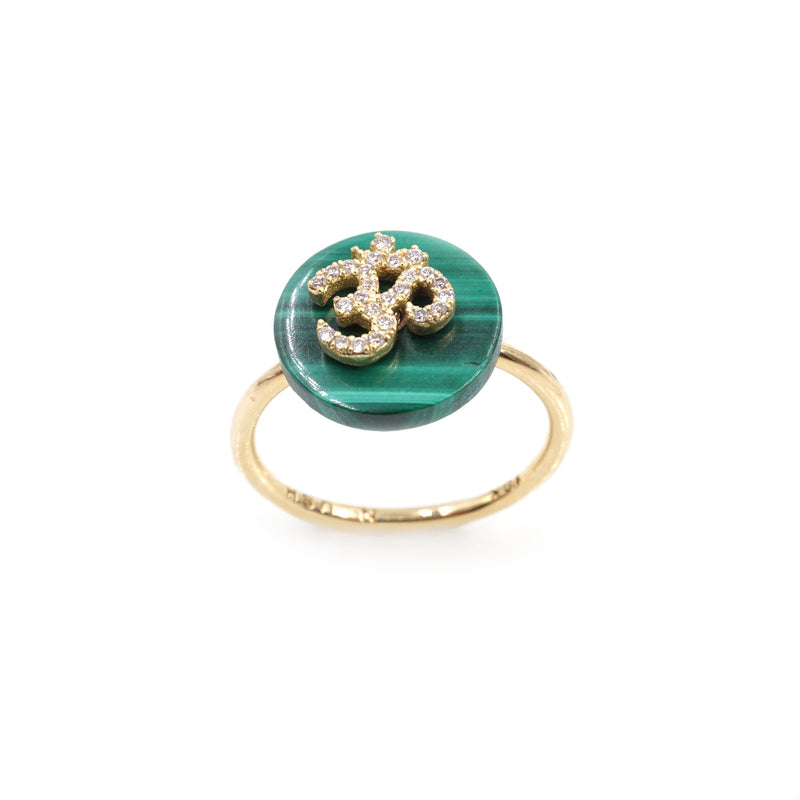Co-Exist Om on Gemstone Ring