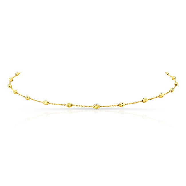 DIAMOND CUT BEADED CHAIN CHOKER