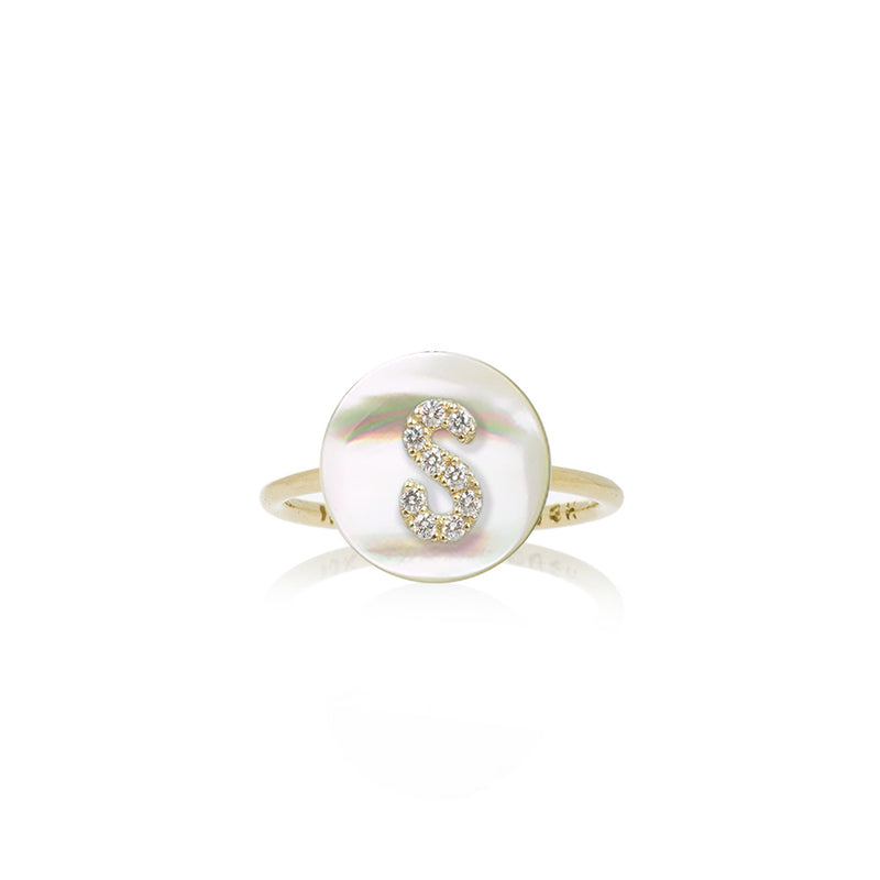 Co-Exist Initial on Gemstone Ring