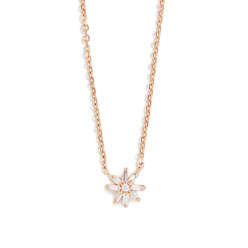 18K YELLOW GOLD SMALL STARBUST PENDANT