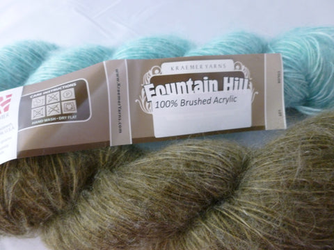 Brushed Acrylic Fountain Hill by Kraemer Yarns, 100% Brush Acrylic - Felted for Ewe