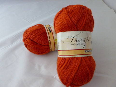 Burnt Orange 532 Therapi by SWTC, Worsted Wool Silk Blend - Felted for Ewe
