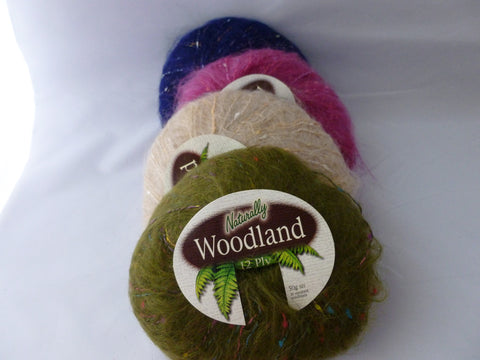 Woodland by Naturally, Multiple Colors, Bulky Mohair Acrylic Blend - Felted for Ewe